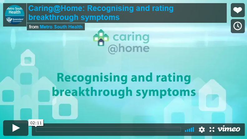 Play Video - Recognising and rating breakthrough symptoms