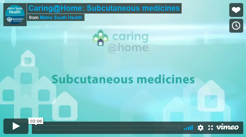 Play Video - Subcutaneous medicines